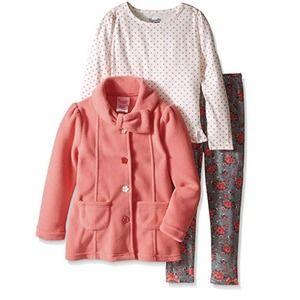 Nannette Roses Polka Dot Jacket Long Sleeve Pants